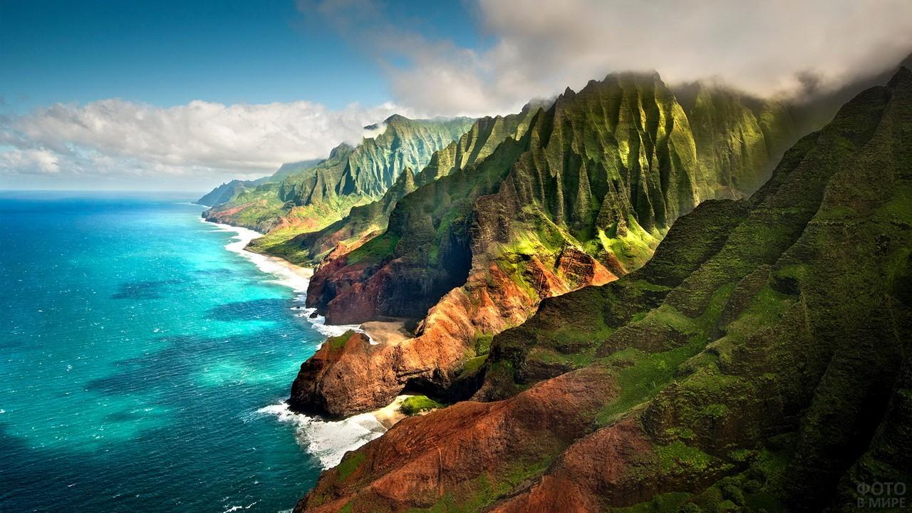 Остров Кауаи в Тихом океане