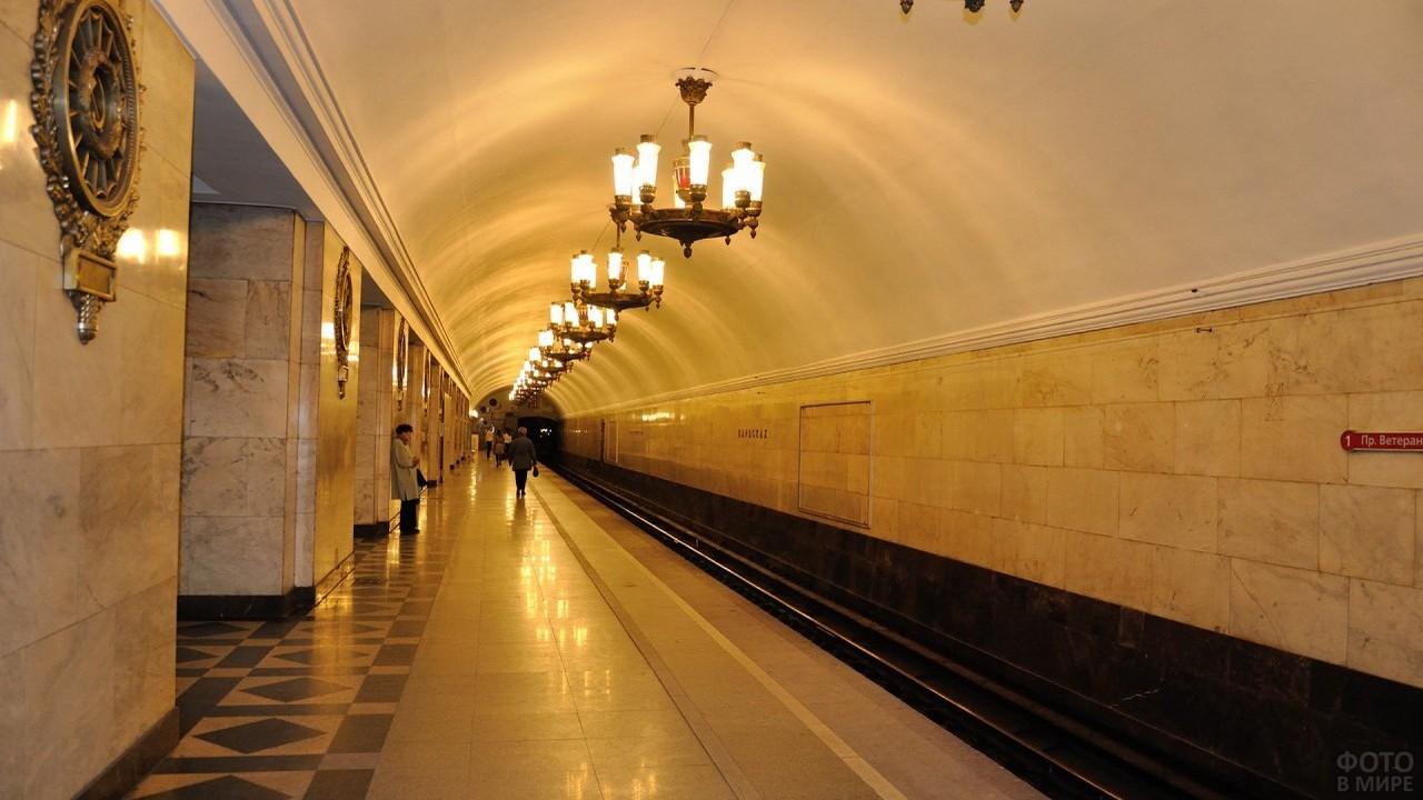 Ожидание поезда в метро