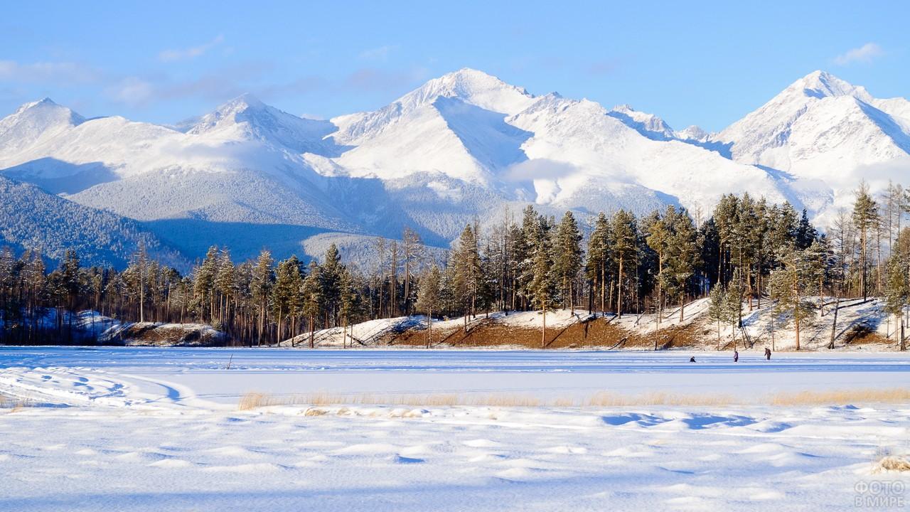 Зимняя природа в Саянах