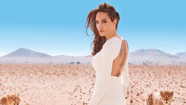Анджелина Джоли в пустыне