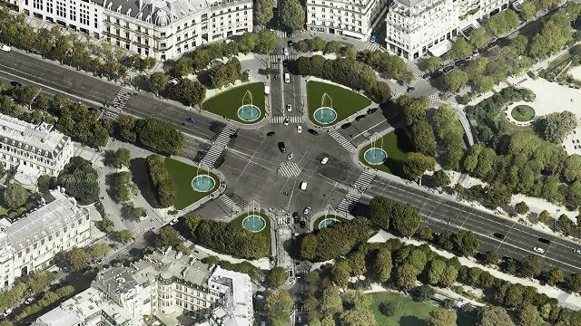 Аэрофотосъёмка Круглой площади - Рон-Пуэн