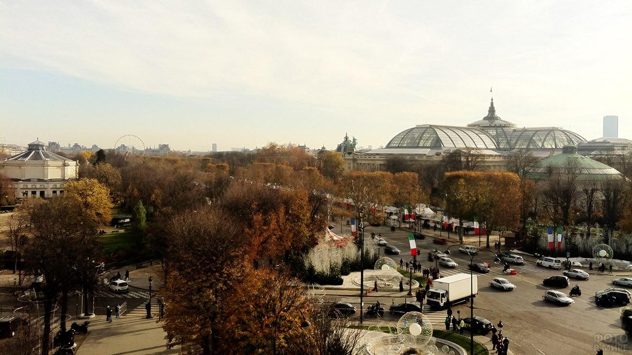 Осенние деревья на площади Рон-Пуэн