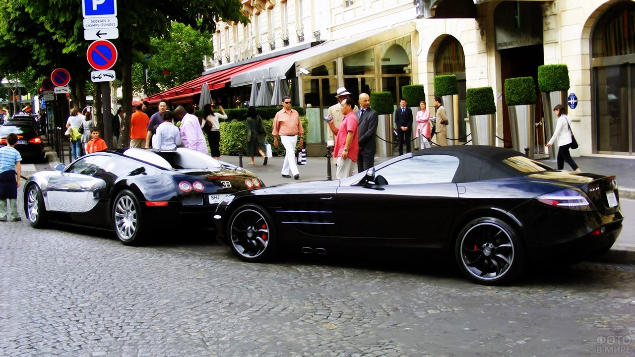 Роскошные авто в районе бутиков