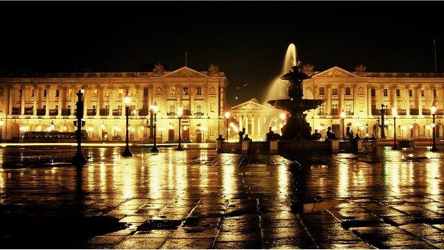 Вечерние огни площади Конкорд - Согласия