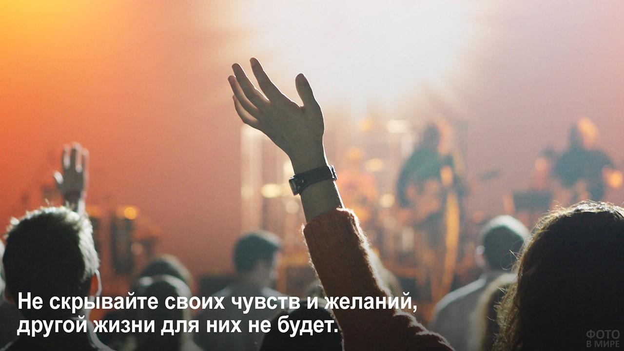Не скрывайтесь от себя - люди на концерте