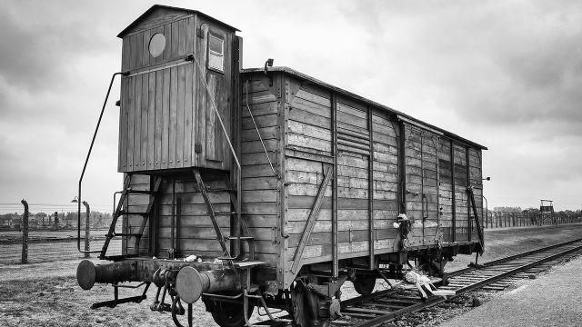 Грузовой вагон для перевозки узников