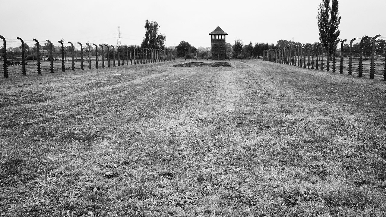 Огороженный периметр для узников лагеря смерти