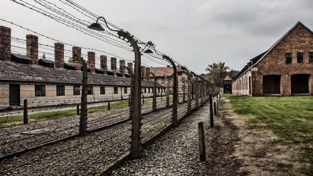 Строения на территории комплекса концлагерей и лагерей смерти Аушвиц-2 Биркенау