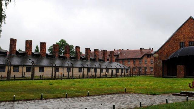 Территория музея Аушвиц-Биркенау