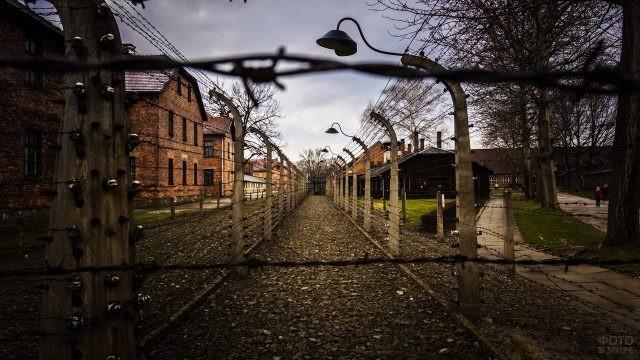 Улица польской деревни Освенцим
