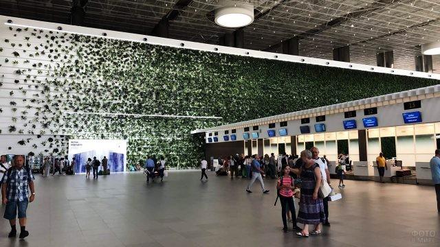 Туристы на фоне Зелёной стены