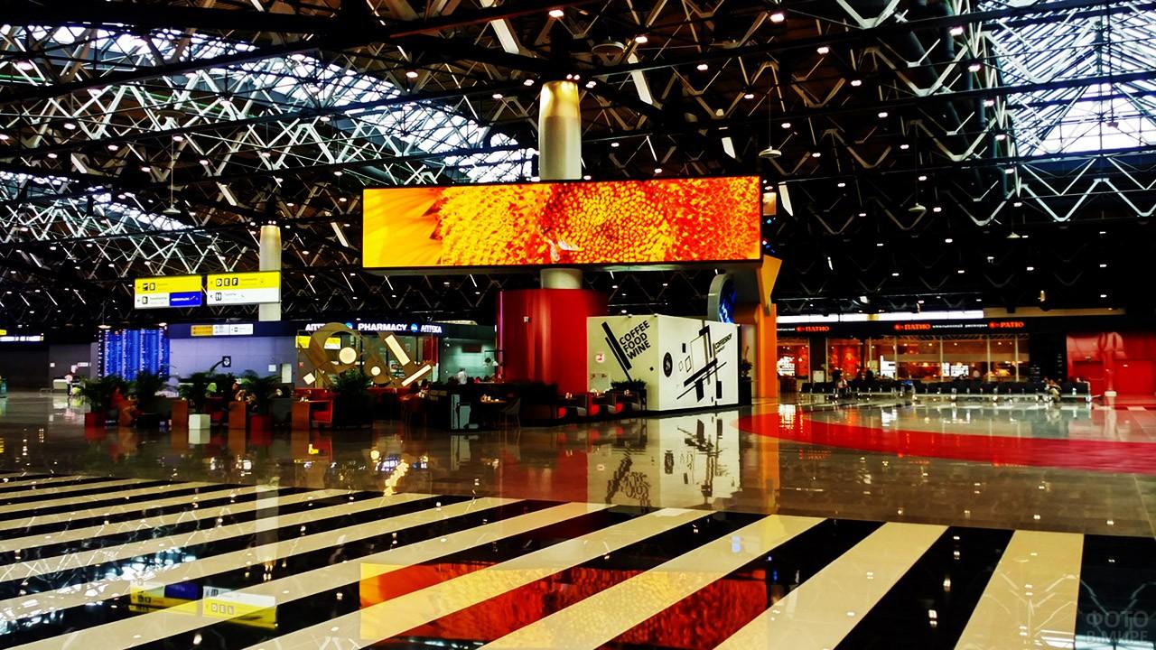 Фойе нового терминала B