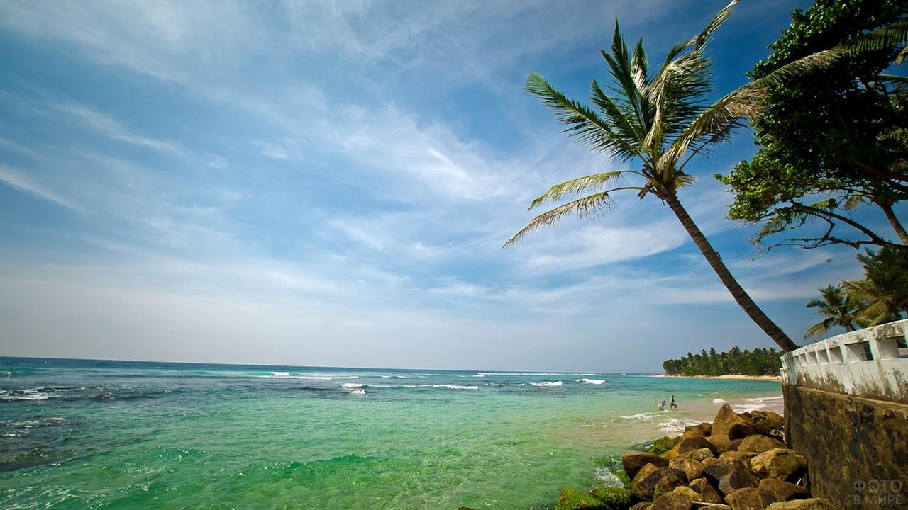 Индийский океан с берега Шри-Ланки