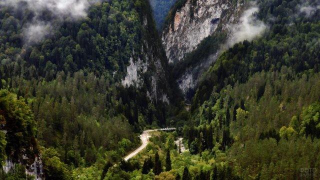Юпшарский каньон в Рицинском заповеднике
