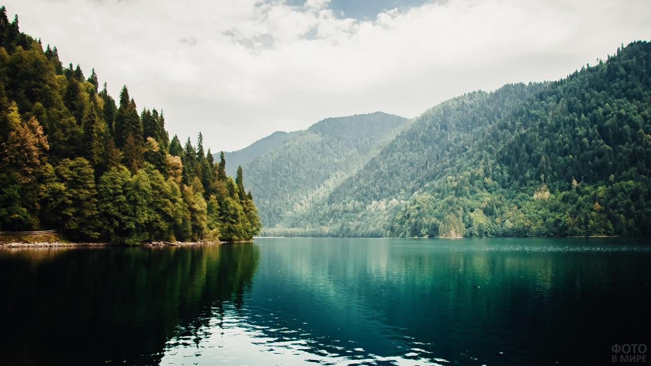 Туманный день на озере