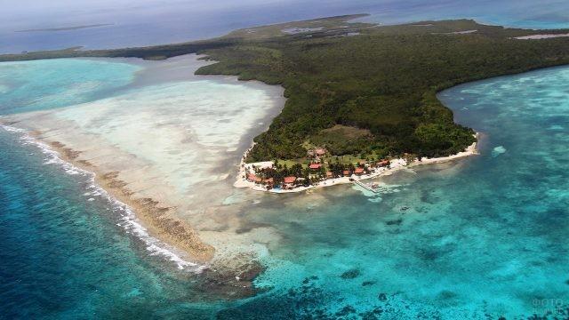 Белизский курорт на острове Тернефф