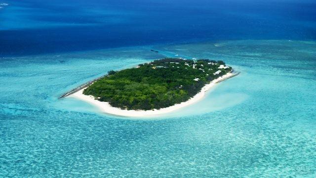 Изумрудный остров в Тихом океане