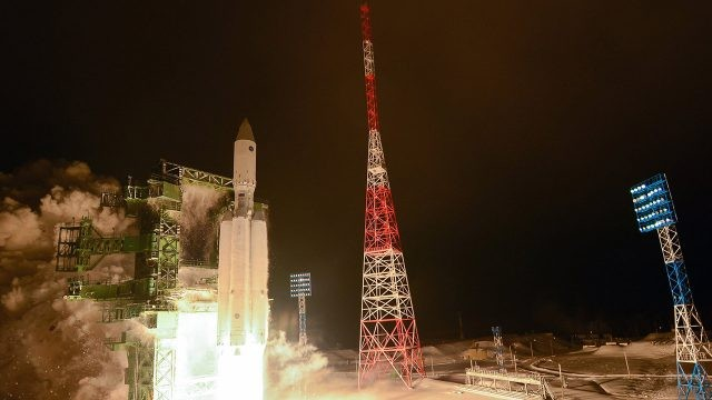 Ночной старт с космодрома Плесецк