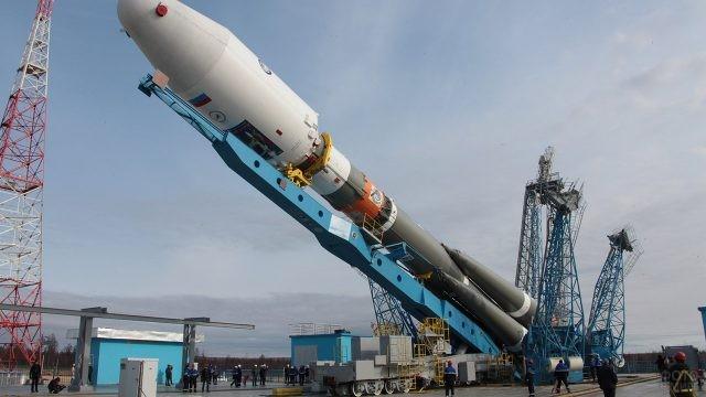 Подготовка Союз-2 к запуску