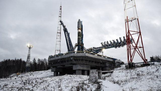 Заснеженный космодром Плесецк