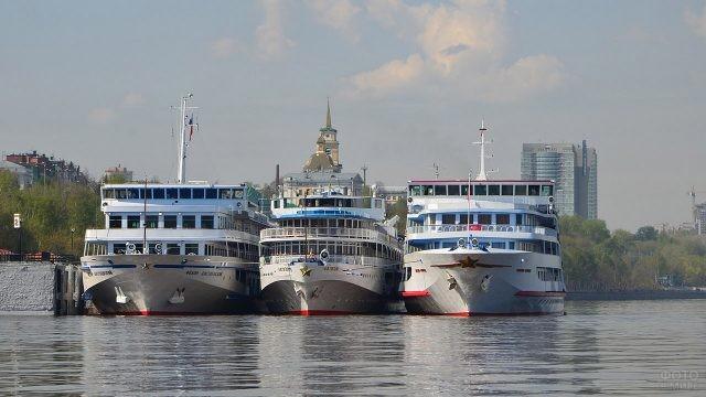 Корабли на Каме в Перми