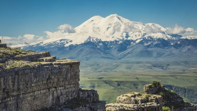Эльбрус с плато Бермамыт