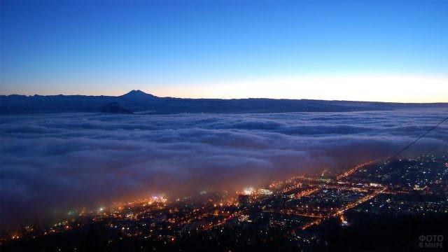 Ночной Пятигорск с горы Машук