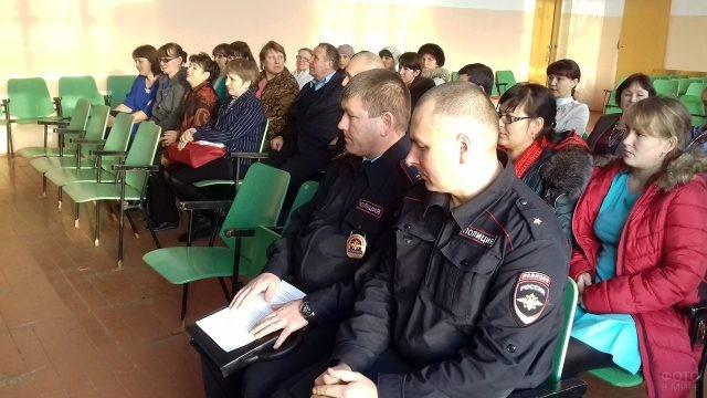 Собрание в муниципальном отделе МВД