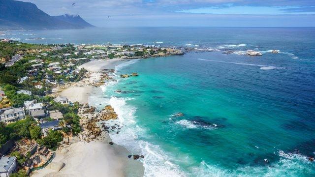Береговая линия Кейптауна в Африке