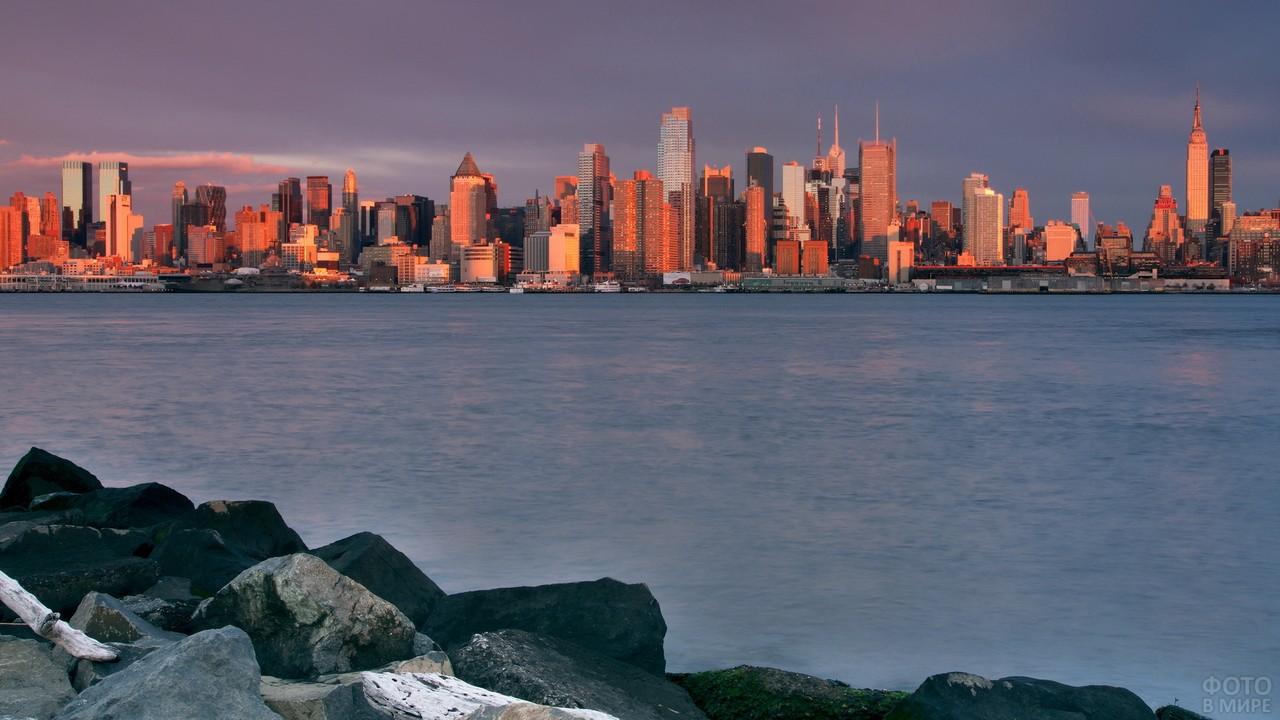 Нью-Йорк на побережье Атлантического океана
