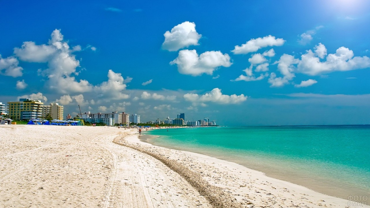 Песочный пляж во Флориде