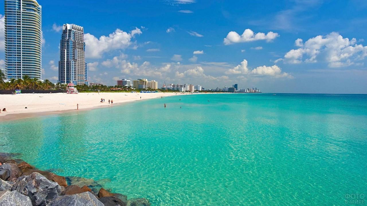 Пляж Саут в Майами