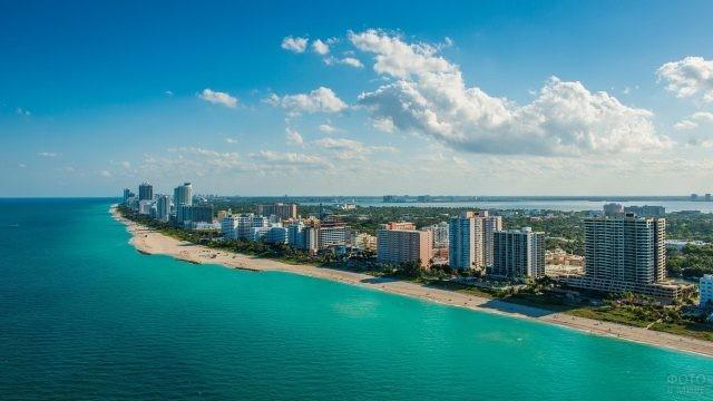 Побережье Майами в Атлантическом океане