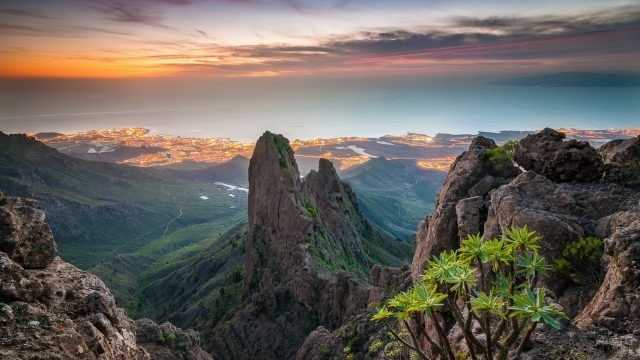 Природа Тенерифе с видом на океан