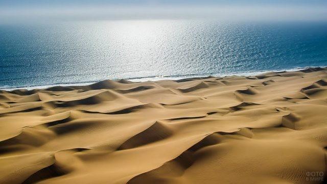 Вид на океан с пустыни