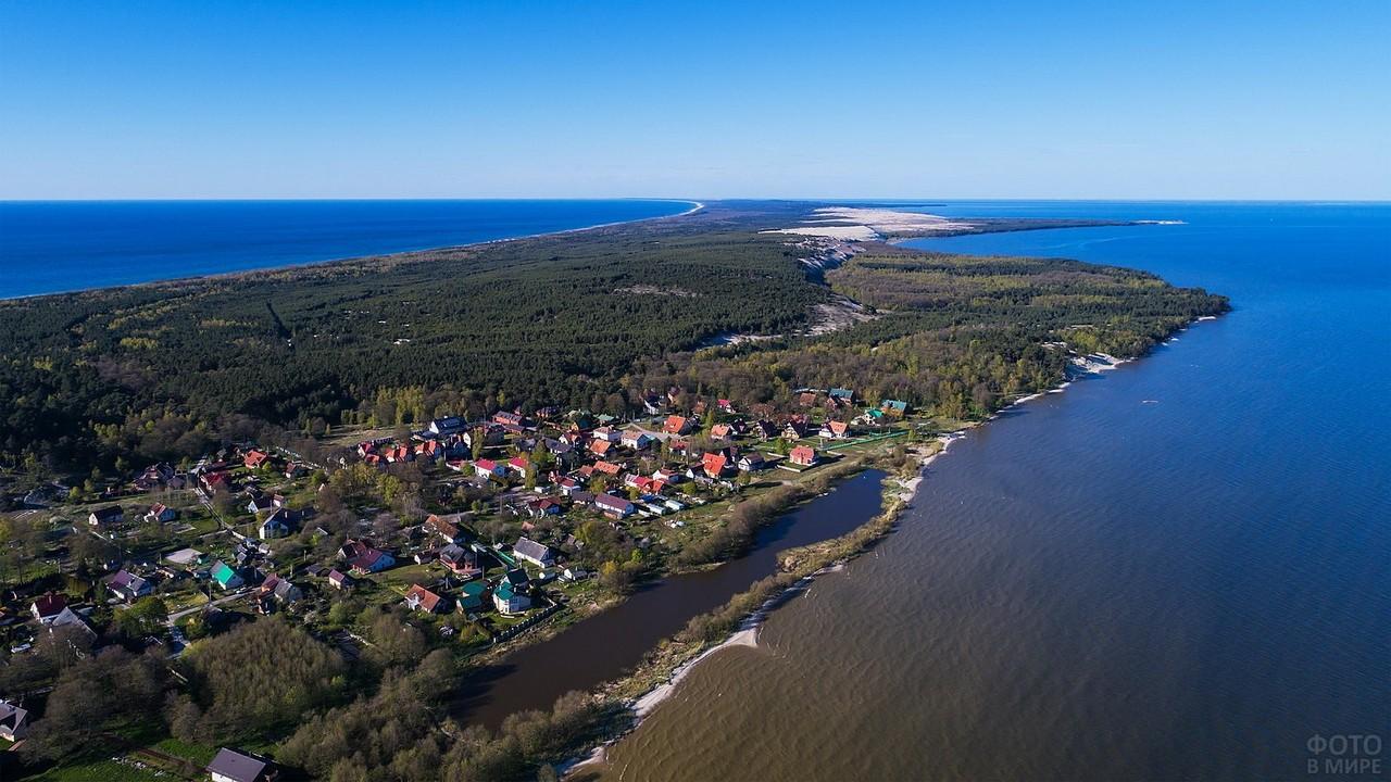Посёлок Морское с высоты птичьего полёта