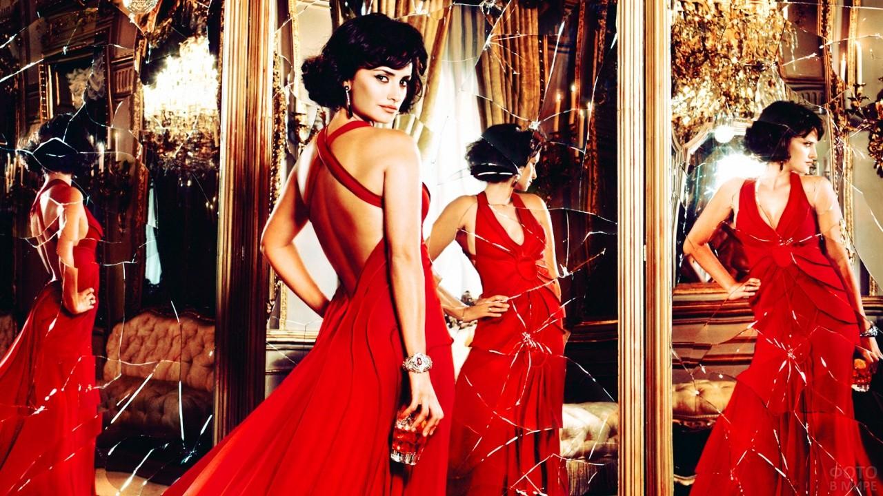 Пенелопа Крус в красном вечернем платье