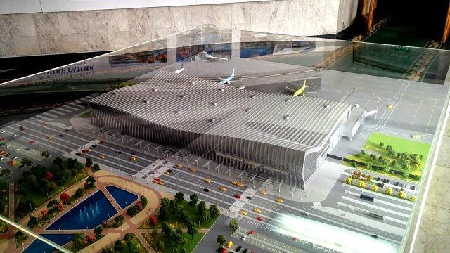 Макет утверждённого проекта аэропорта в Симферополе