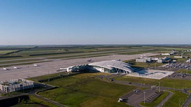 Панорама аэропорта Платов в Ростове-на-Дону