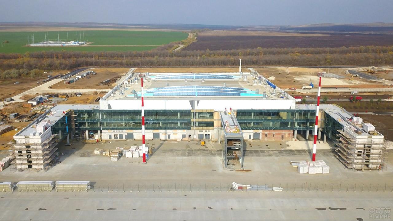 Строительство аэропорта Гагарин в Саратове