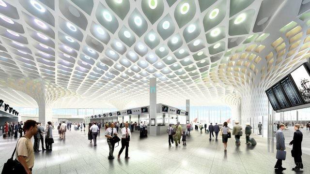 Зал регистрации аэровокзала в Мумбаи