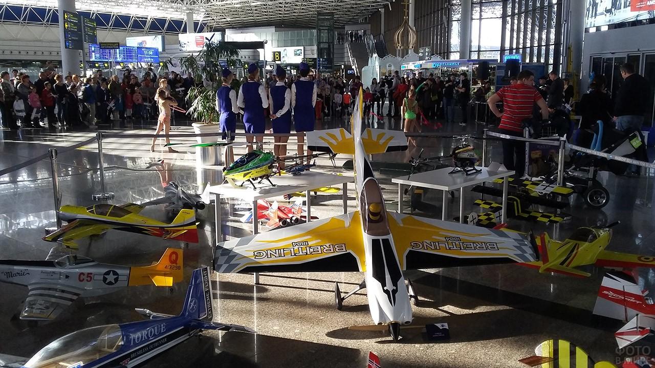 Выставка аэромоделей клуба FLY-SOCHI