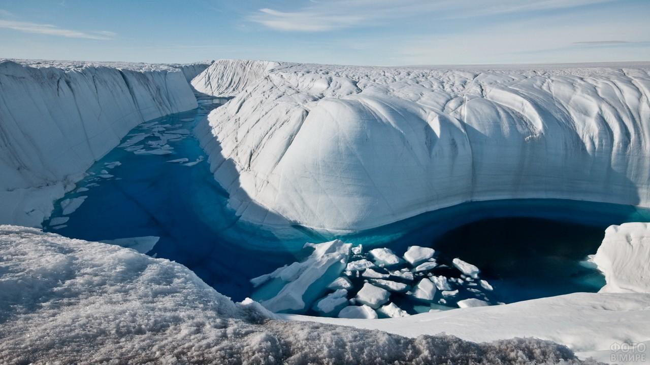Река в ледяном массиве