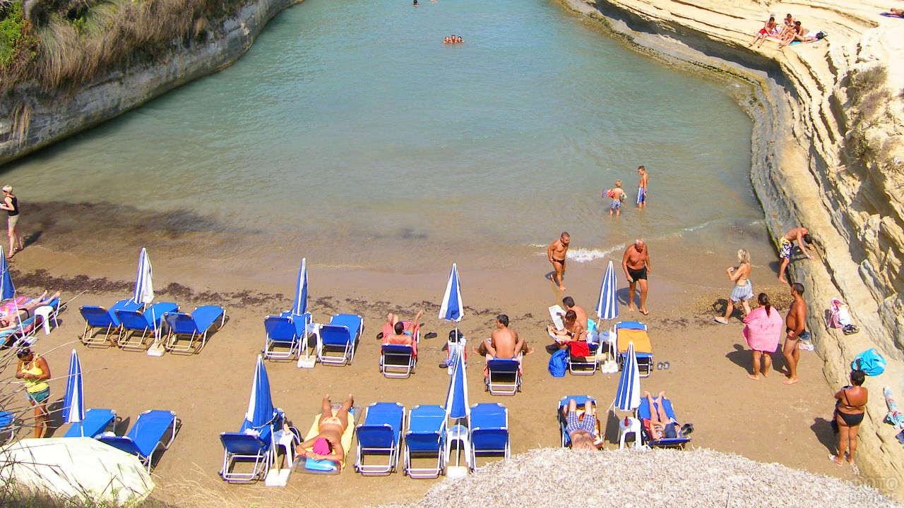 Пляж Сидари в Корфу