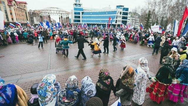 Хоровод в День народного единства в Югре
