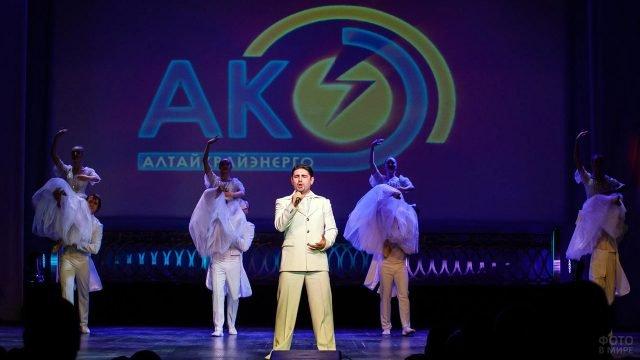 Выступление артистов на сцене в День энергетика