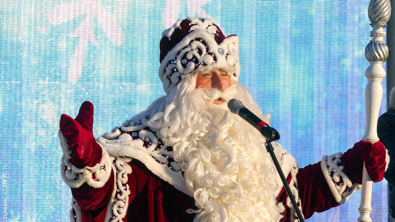 Дед Мороз из Великого Устюга на ёлке в Вологде
