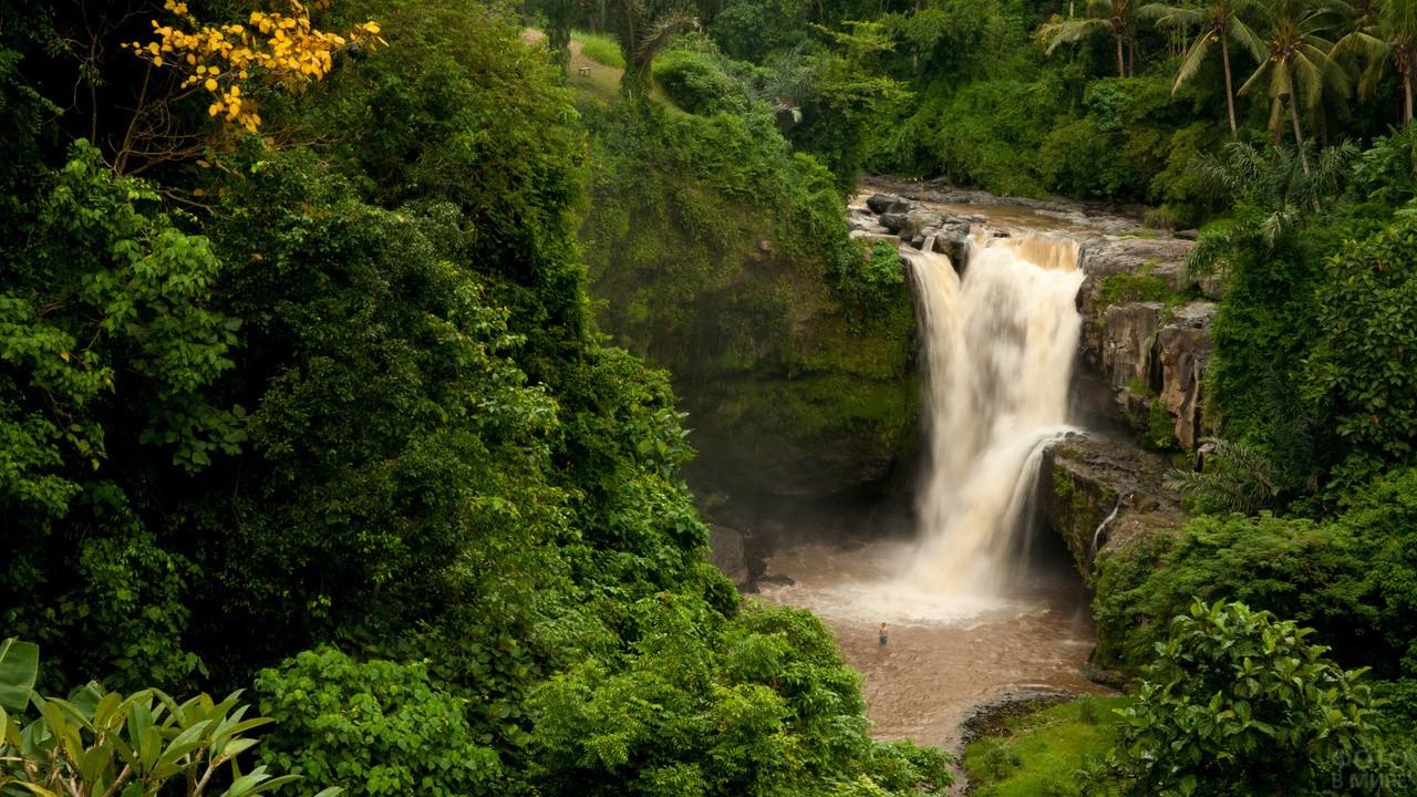 Водопад на острове Бали