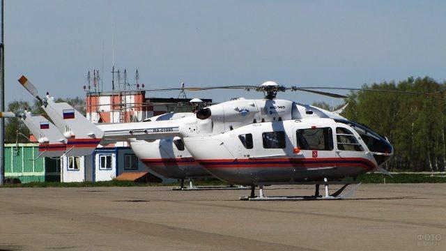 Вертолёты МЧС в Остафьево
