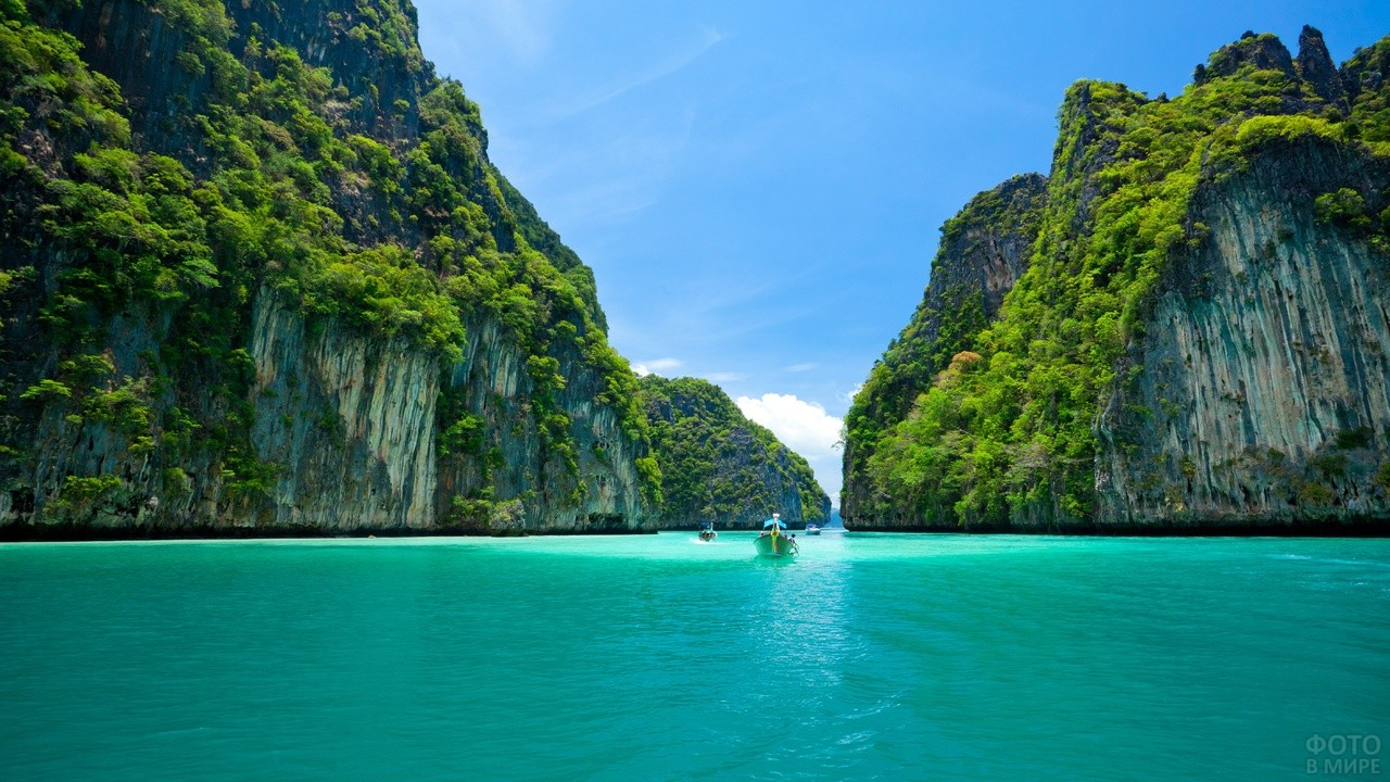 Красивый вид острова Пхи Пхи